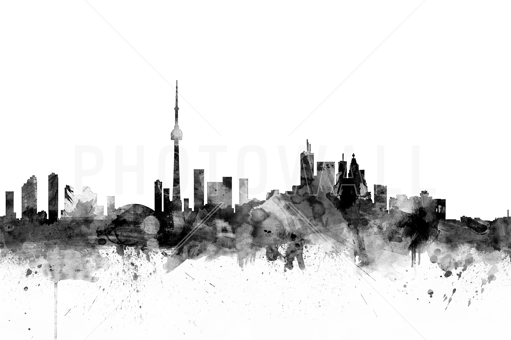 Toronto skyline black wall mural photo wallpaper photowall toronto skyline black wall mural photo wallpaper photowall amipublicfo Image collections