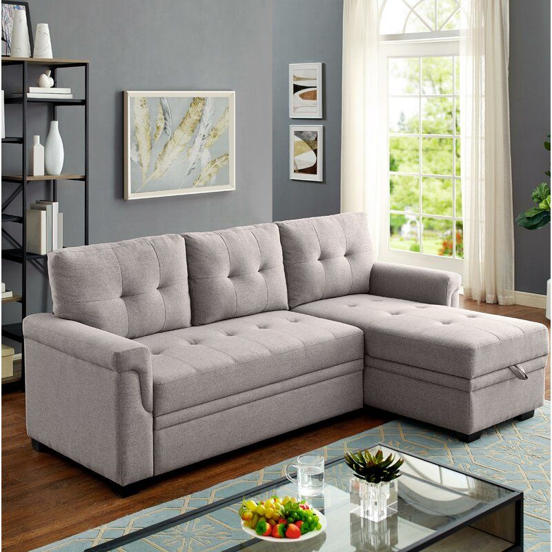 Efim 86 Reversible Sleeper Sofa Chaise In 2020 Sectional Sleeper Sofa Sectional Sofa Sleeper Sectional