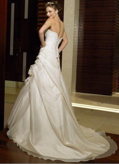 A-line princess halter wedding dress!
