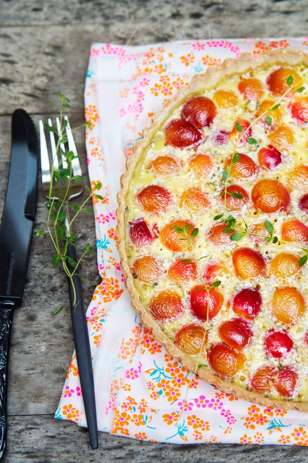 This gluten free cherry tart by La Tartine Gourmande looks amazing - from Babble's Top 100 Mom Food Blogs