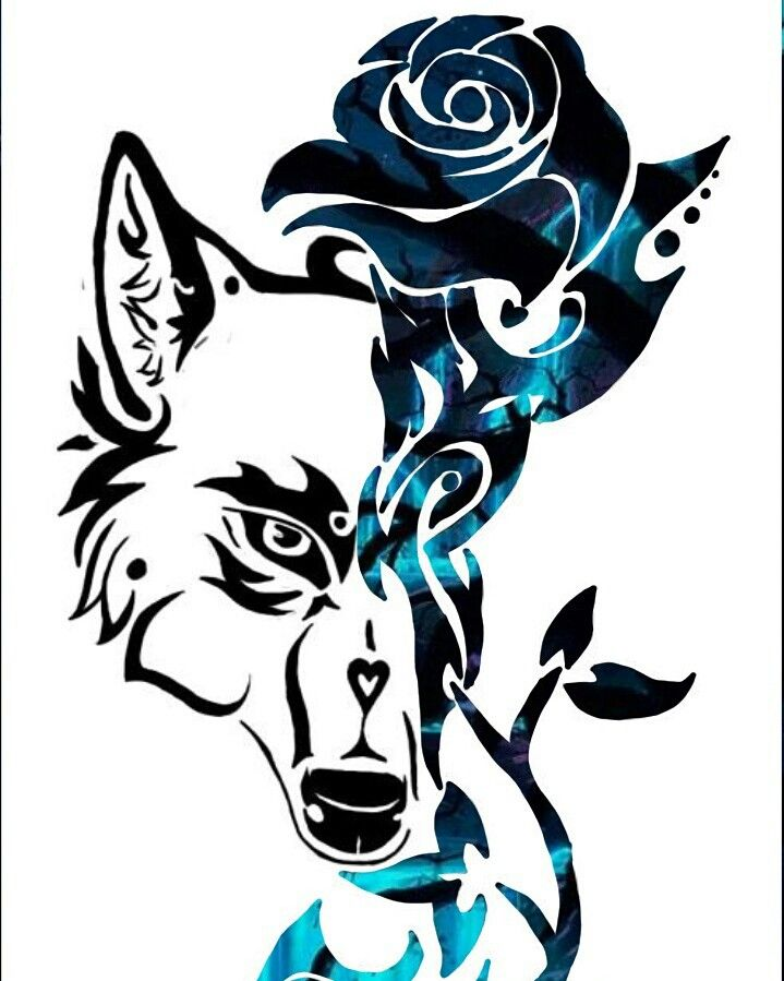 Blue Rose The Wolf Has Returned In Tattoo Form Tattoos Wolf