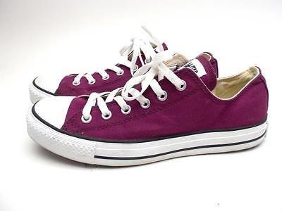 9edd26a87727 CONVERSE ALL STAR Purple Canvas Low Top Sneakers Size Men 8   Women ...