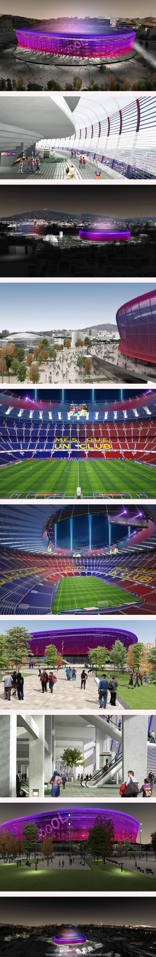 Estadi: New Camp Nou conceptual drawings - created via http://pinthemall.net