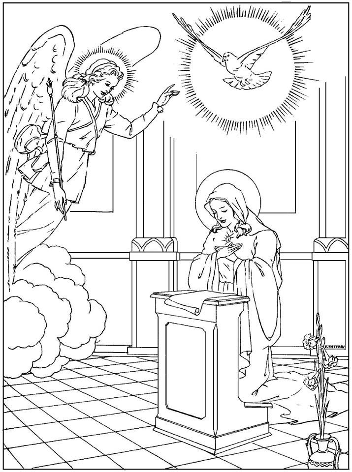 Encarnacao Do Verbo Criancas Catolicas Anunciacao Colorir