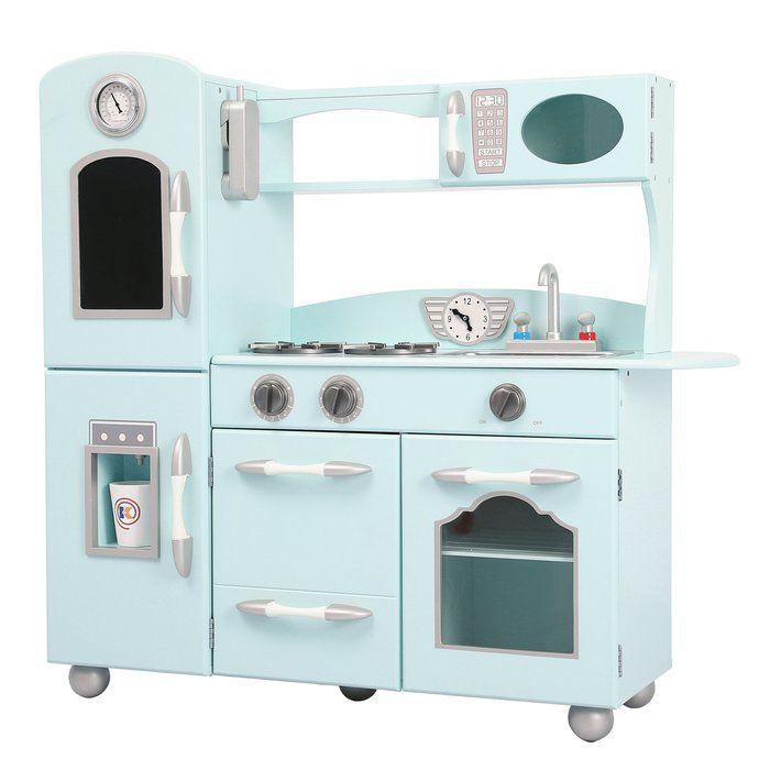 Wooden Play Kitchen Set Kids Play Kitchen Pink Play Kitchen