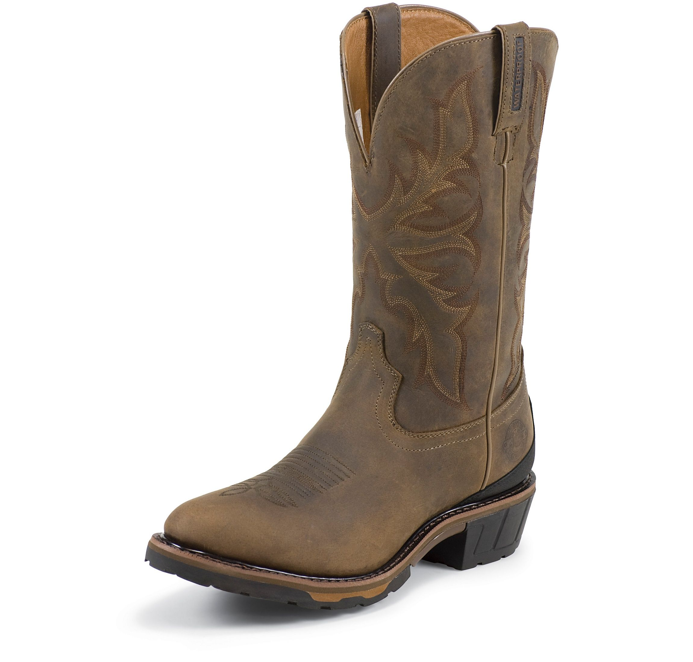 Justin Mens WK4936 Waterproof Western Work Boots