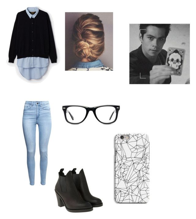 """Imagine working on a case with stiles"" by molliemattingly ❤ liked on Polyvore"