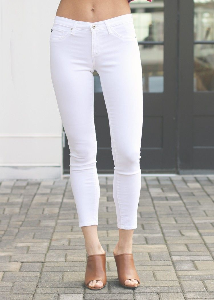 AG Legging Ankle-White, white denim, skinny white jeans @agjeans ...