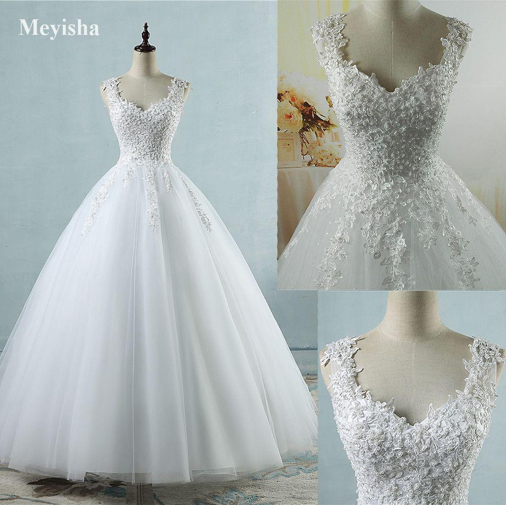 Encontrar Más Vestidos de novia Información acerca de ZJ9076 vestido ...