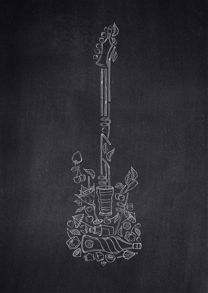 Draw On The Walls Gitar Duvar Hayvanlar