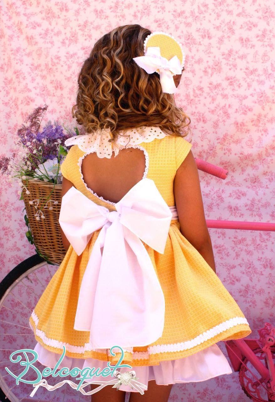 bffef81cb Vestido de vuelo amarillo para niña de Belcoquet
