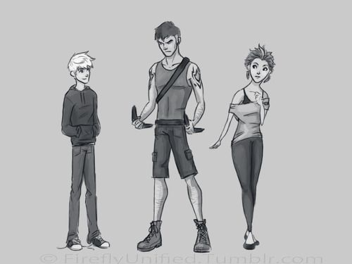 Humanized Jack, Bunny and Tooth.