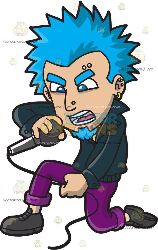 A Punk Rock Singer With Blue Hair Punk Rock Punk Blue Hair