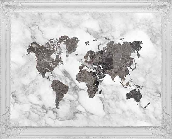 black world map poster marble decor world map art travel map map