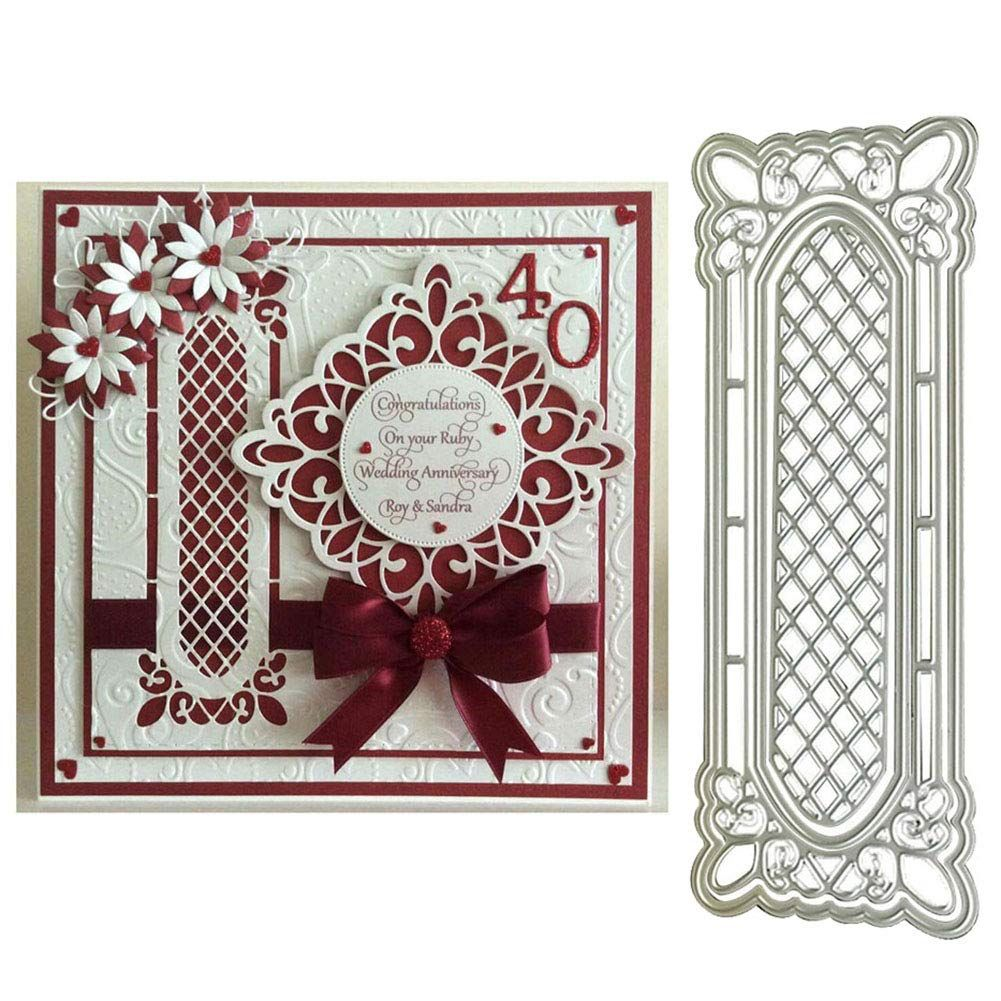 4pcs//Set Lattice Windows Frame Metal Cutting Die Embossing Card Craft Decor DIY