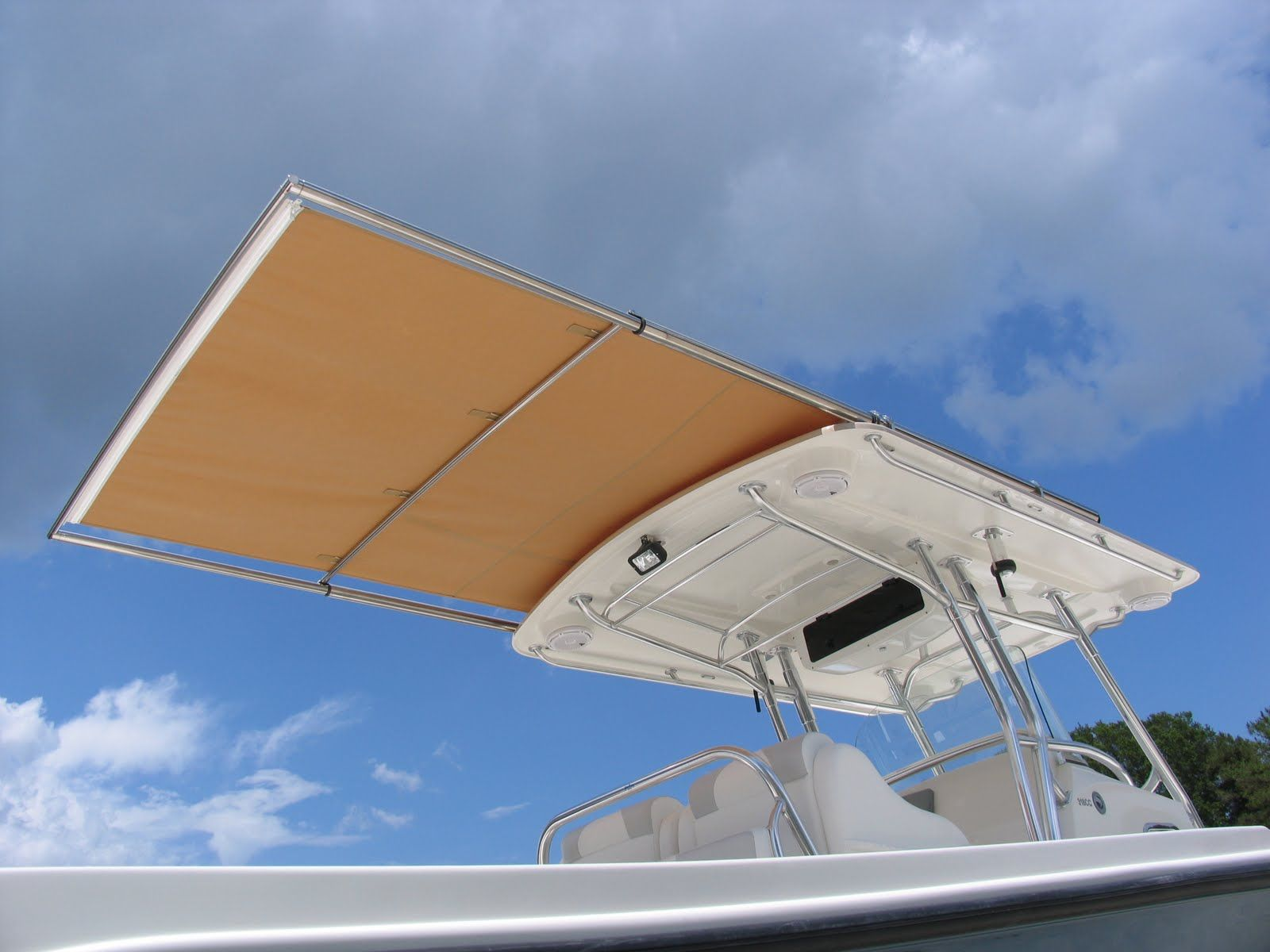 T Top Canvas Extensions With Retractable Shade Boat Console