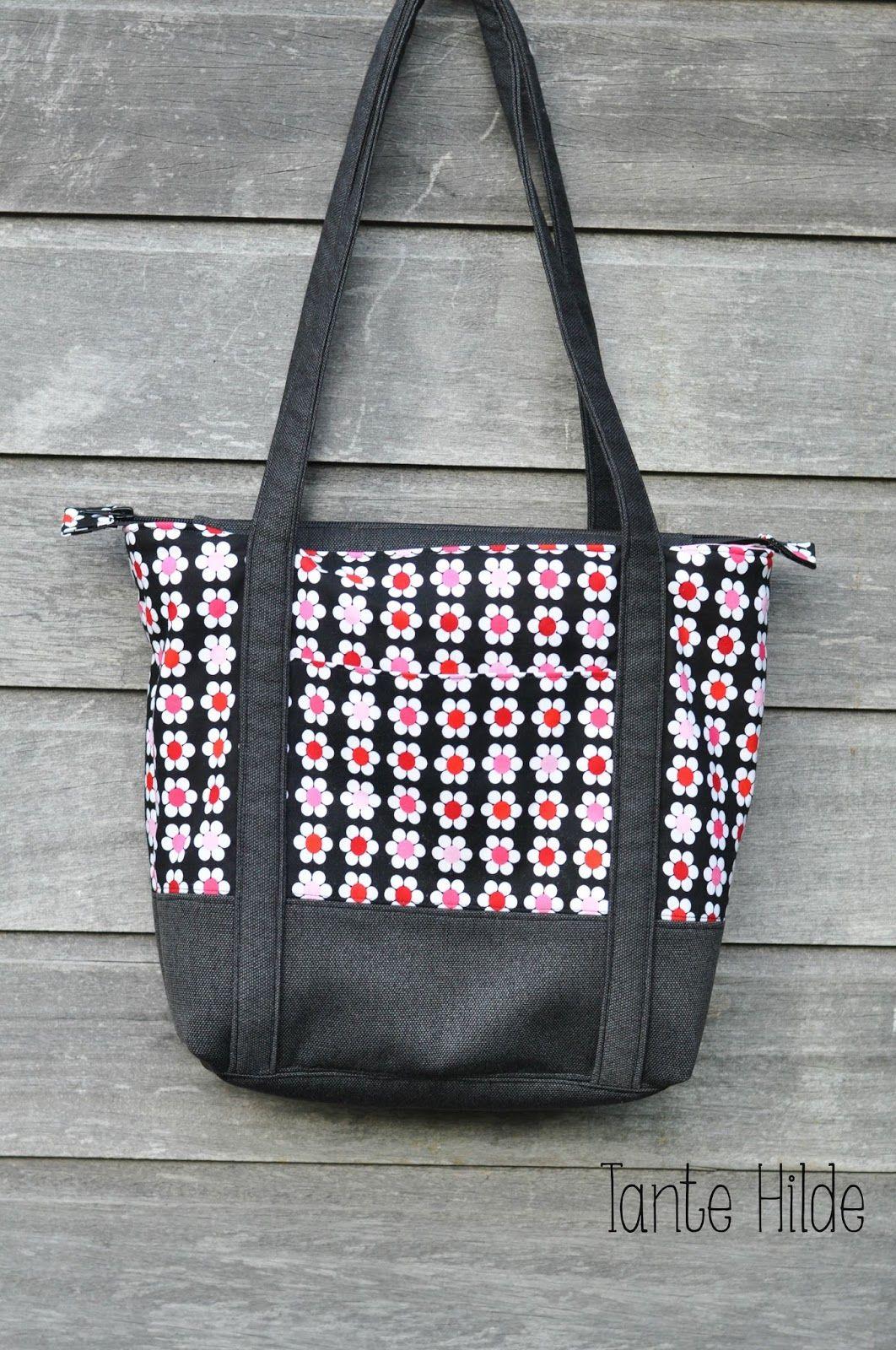 Tante Hilde: Eine neue Handtasche | Schnittmuster Taschen ...