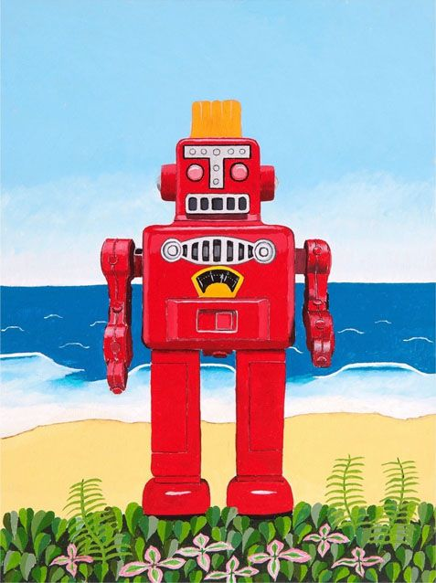 ROBOT AT THE BEACH #1
