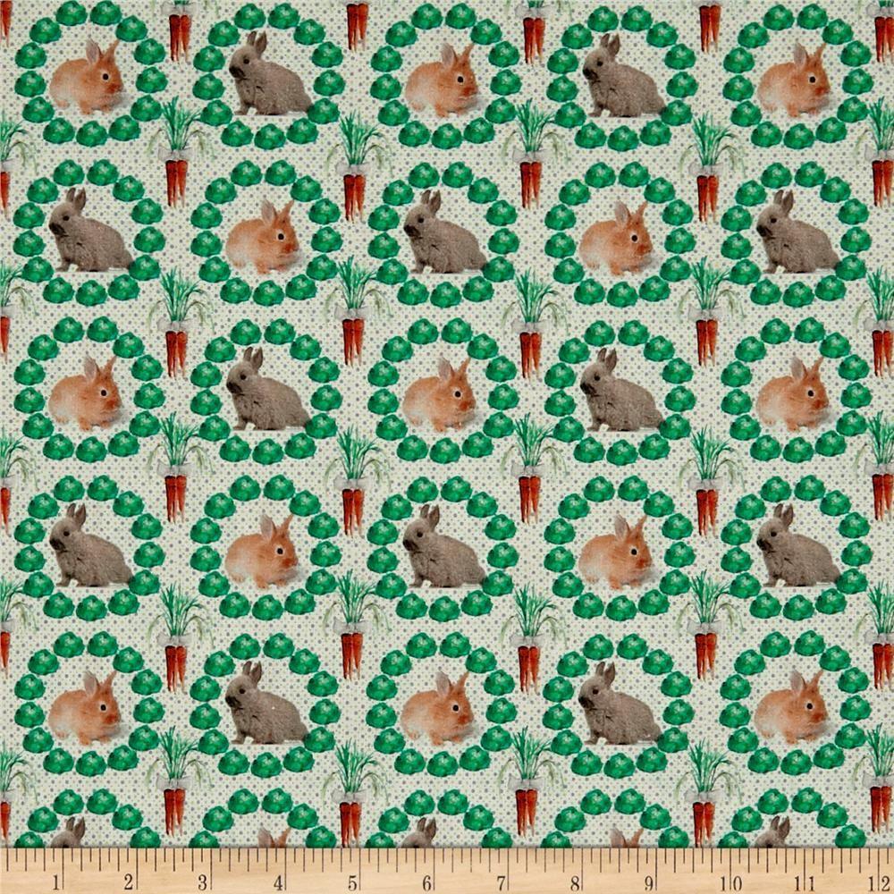 Stof France stof france le quilt petits lapins rabbit green | fantastic fabrics