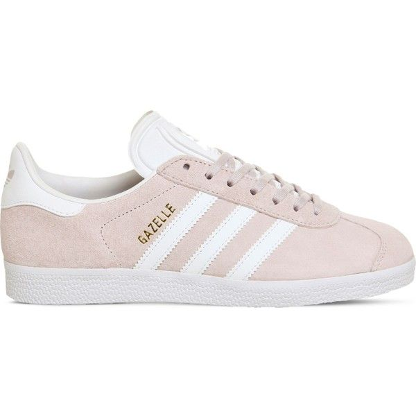 pretty nice 357f8 e4cd9 Adidas Gazelle lace-up suede trainers ( 80) ❤ liked on Polyvore featuring  shoes