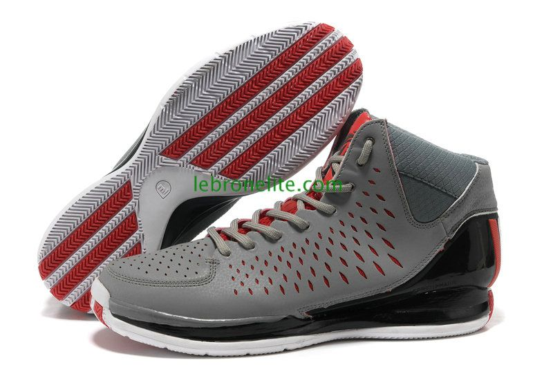 Derrick Rose 3.0 Adidas Wolf Grey Black Red  f1c212343fff