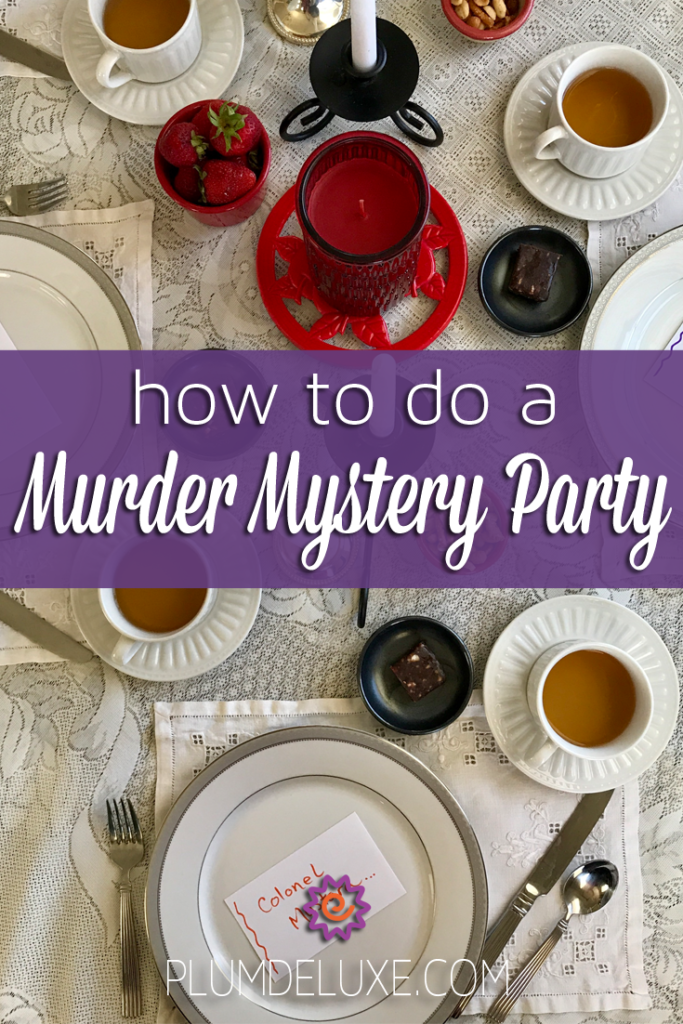 Six Tea Party Games for Adults Mystery dinner party