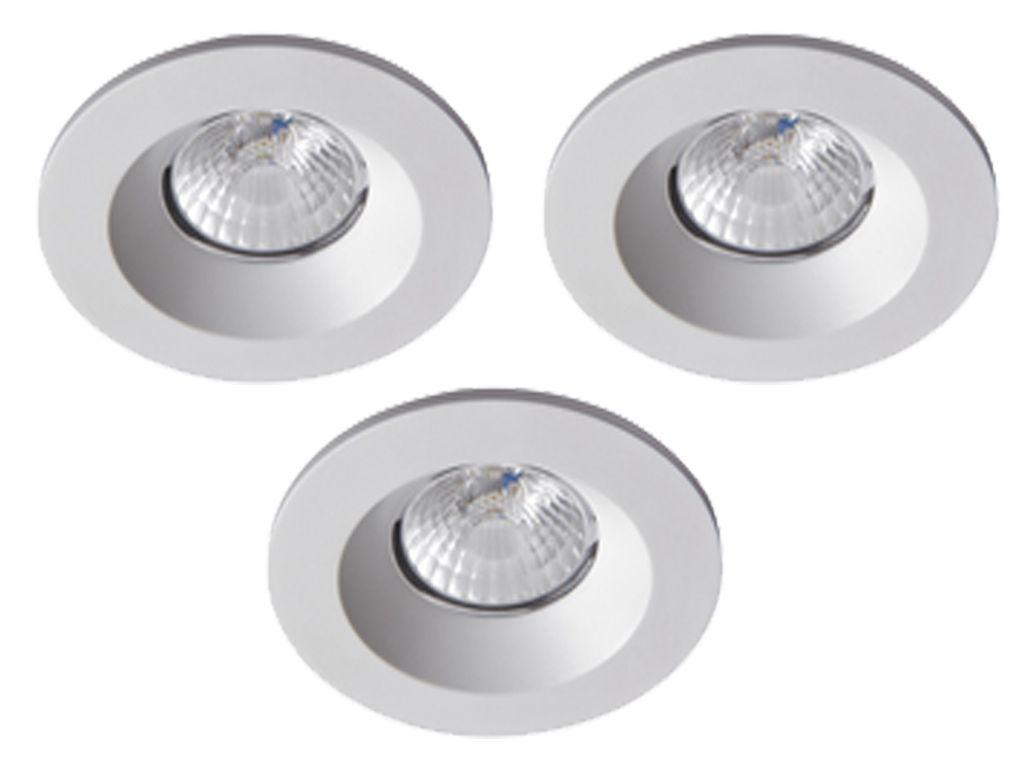 Badkamer Led Inbouwspots : Complete set van 3 spots 8 w ip65 badkamer led spots witte