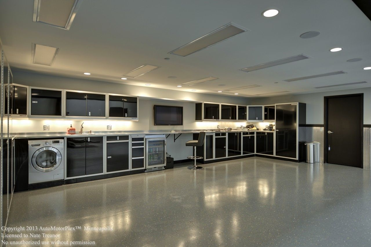 Garage Condo In MN That Features These Moduline Cabinets Downstairs.