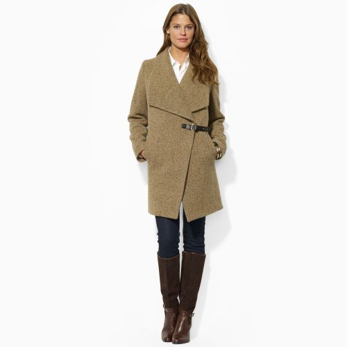 Wool-Blend Buttoned Coat - Outerwear   Women - RalphLauren.com