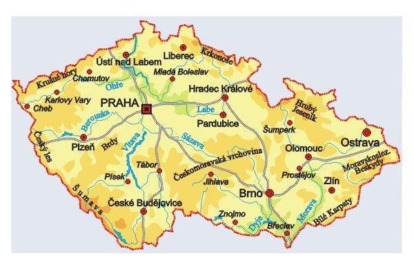 Ceska Republika Hledat Googlem Ceska Republika Mapa Zemepis