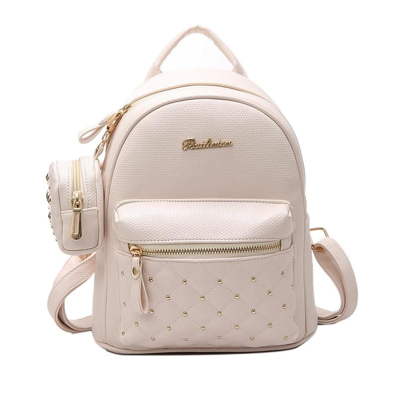 abe50a9040 2017 Summer New Vintage Retro Lady PU Leather Bag Small Women Mini Backpack  Mochila Feminina School Bags for Teenagers Bolsa