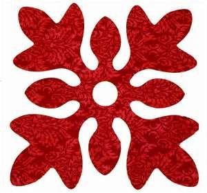 Snapapplique fusible laser cut Hawaiian Quilt Block