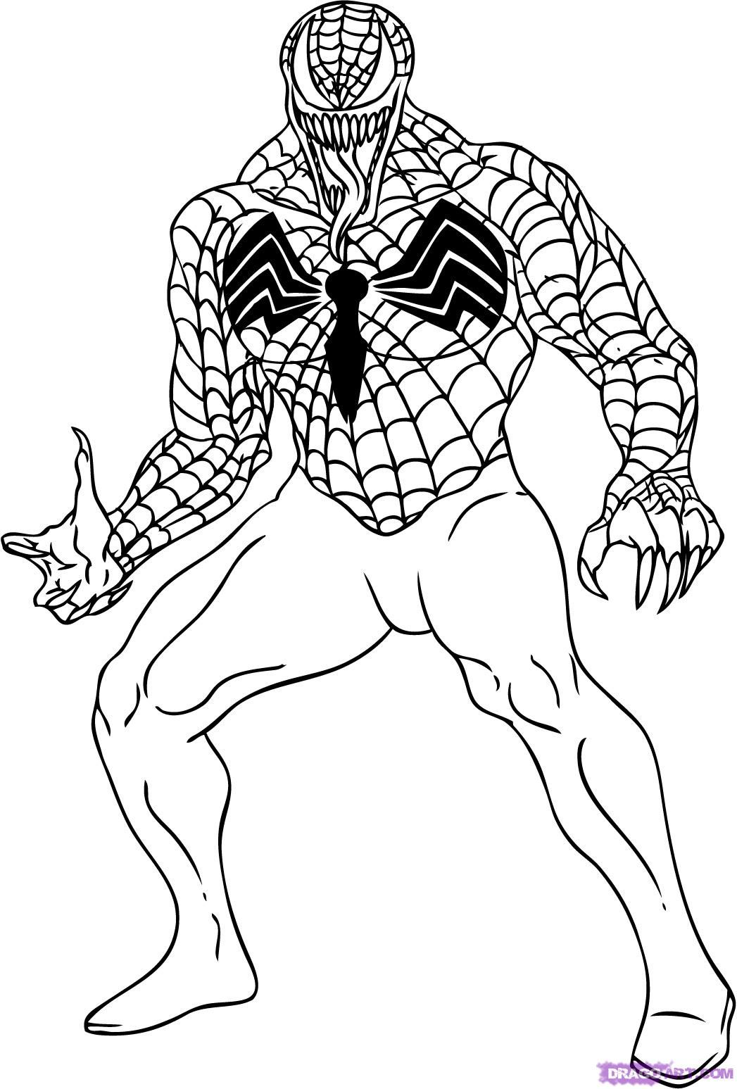10 Spiderman Happy Birthday Coloring