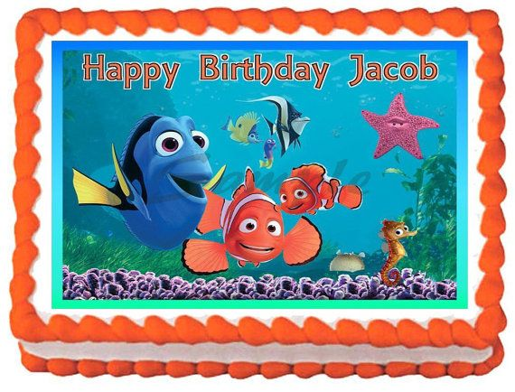 nemo cake template - finding nemo edible image cake topper decoration by