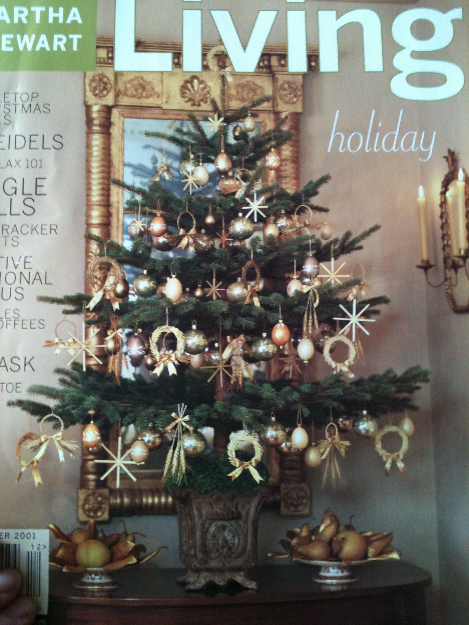 I love decorating noble firs. from Martha Stewart magazine ...