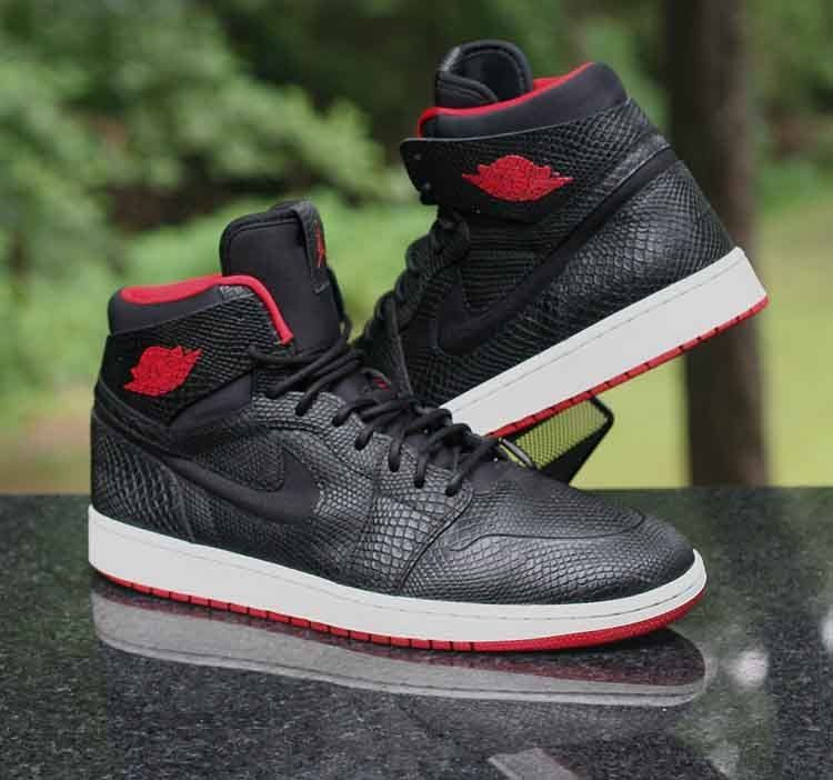 899dcce4953 Air Jordan 1 Retro High Nouveau Snakeskin Black Red 819176-001 Men s Size  12  Jordan  BasketballShoes