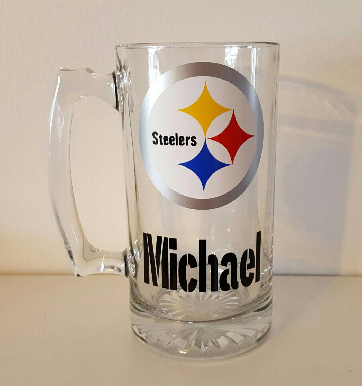 b7a347e2 Steelers Beer Mug-Personalized Steelers Beer Stein-Pittsburgh ...