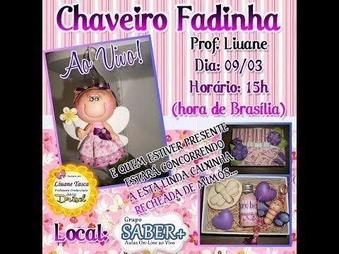 Aula Chaveiro Fadinha 09/03 Liuane - YouTube