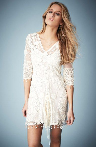 Kate Moss for Topshop Crochet Lace Midi Dress (Nordstrom Exclusive) available at #Nordstrom