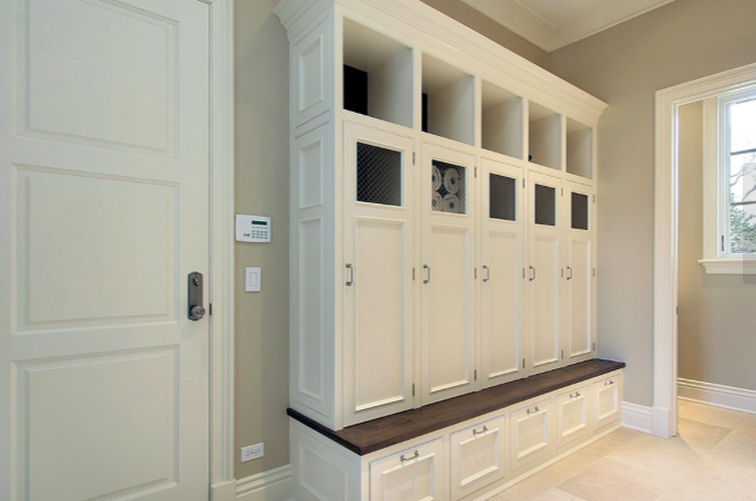 Kick Out Clutter With A Storage Bench Coat Cubby In The Foyer