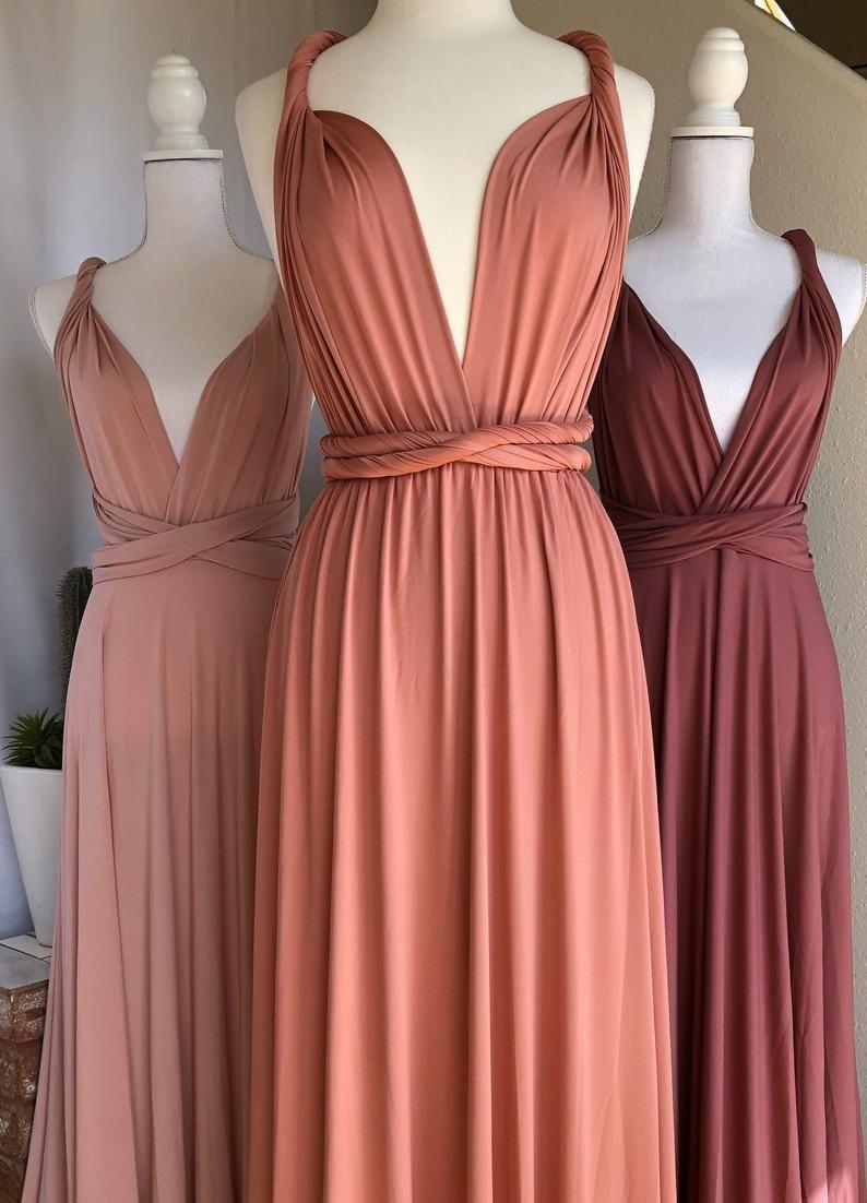 CLAY Bridesmaid Dress/ Custom Length / Convertible