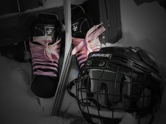 Hockey Skates With Pink Laces Pink Lace Bags Skate