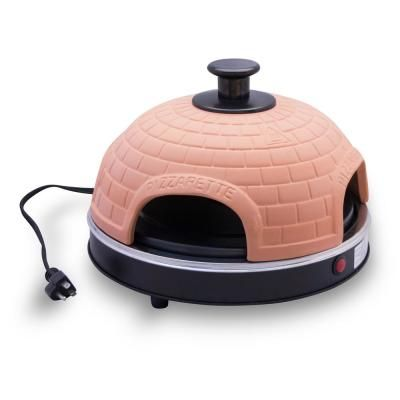Terracotta Dome 800 W Countertop Pizza Oven With Dual Heating