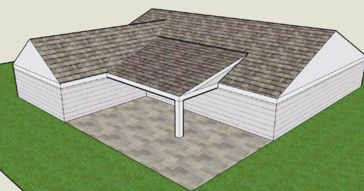 Add on patio to L shaped house | Patio addition, Back ... on Add On Patio Ideas id=13831
