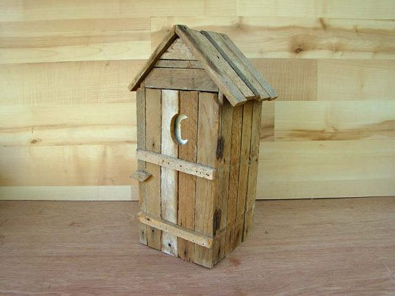 Authentic Outhouse Toilet Paper Holder Roughcut by caddyshack2