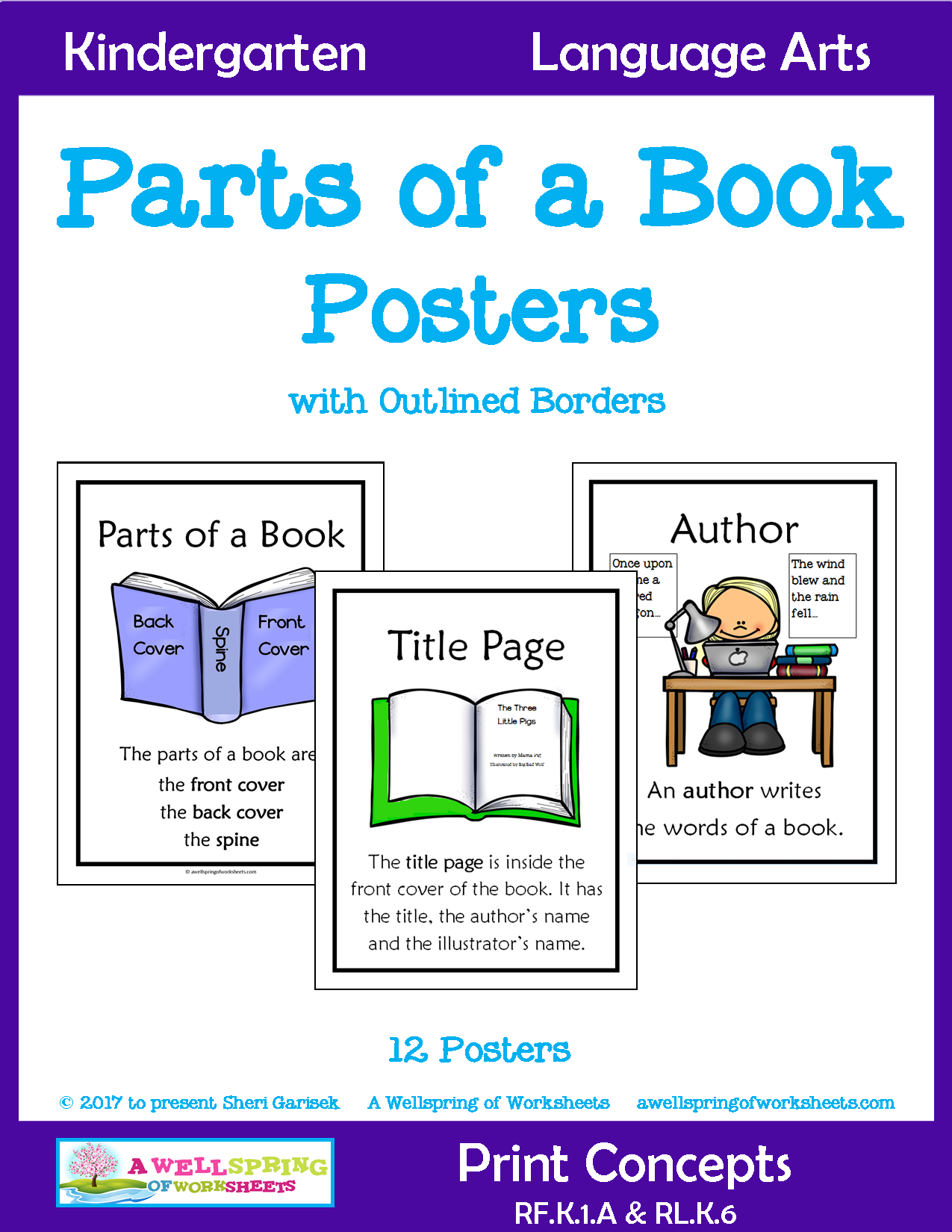 Parts Of A Book Posters With Images