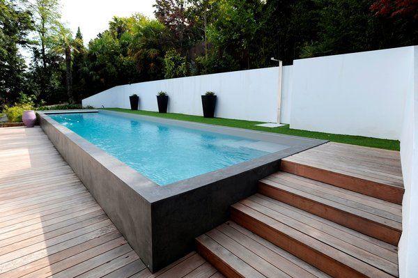 Un couloir de nage hors-sol d\u0027une longueur de 15 m pour une largeur - Couler Une Terrasse En Beton