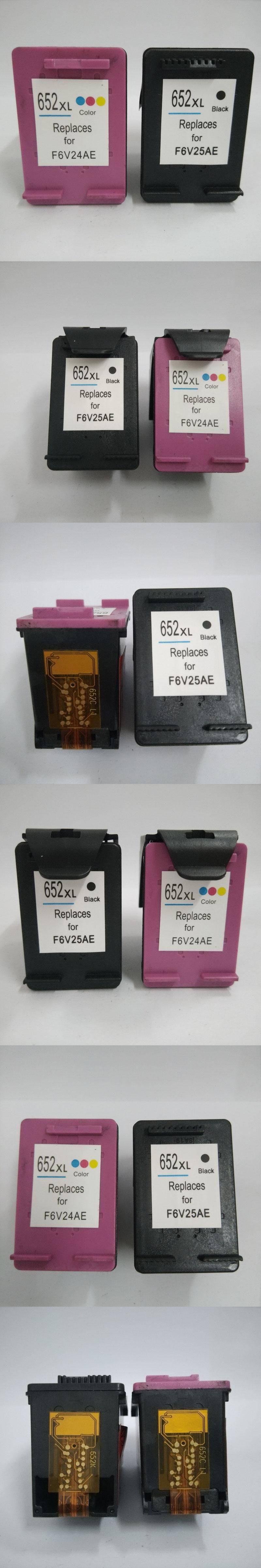 2pk For Hp 652 Ink Cartridge Deskjet 1115 1118 2135 2136 2138 Printer 3635 3636