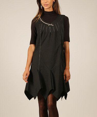 Look what I found on #zulily! Black Pleated Sleeveless Dress - Women #zulilyfinds