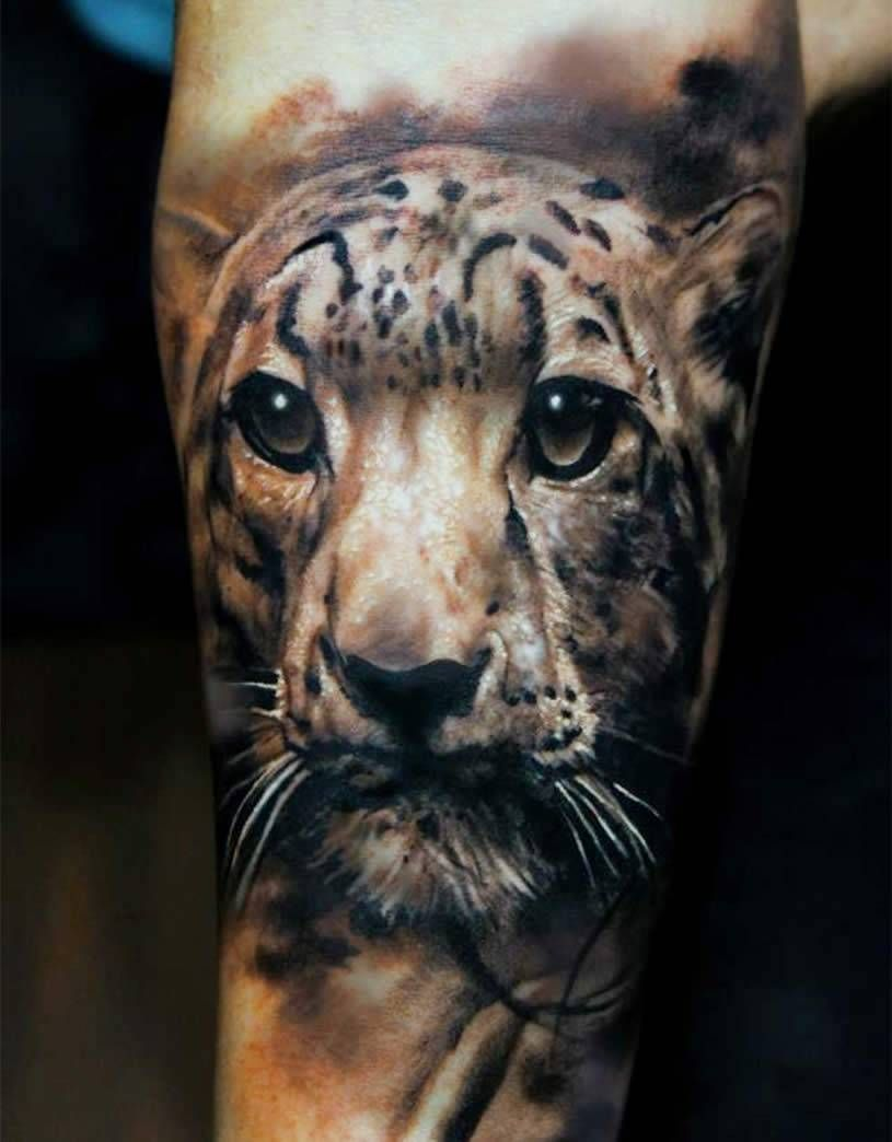 3d Realistic Tattoos Photo Realism Leopard Forearm
